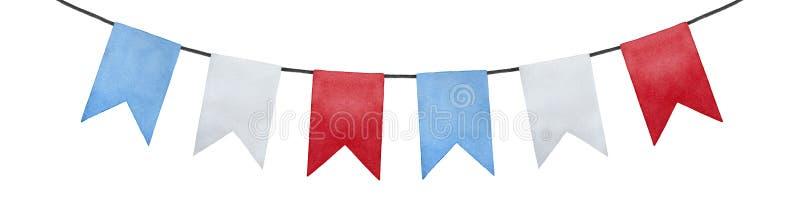 Ilustração alegre e positiva das bandeiras da bandeira da estamenha da flâmula ilustração do vetor