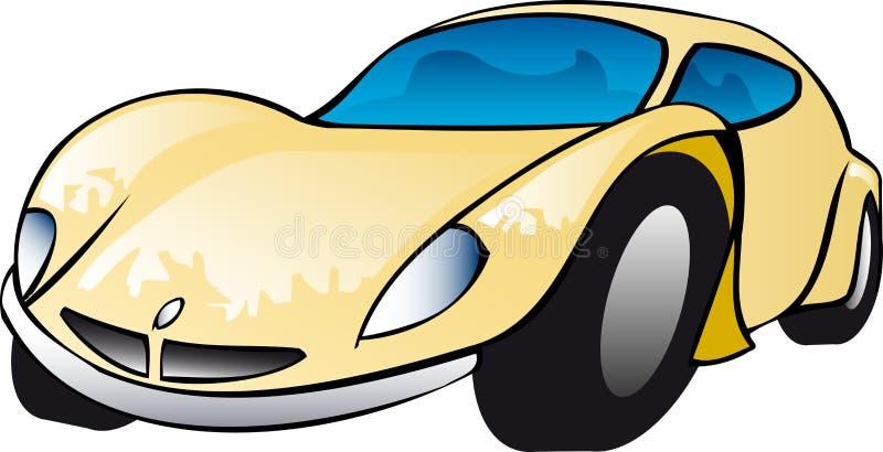 Ilustração amarela do carro de esportes ilustração royalty free