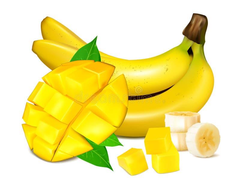 Ilustração amarela madura do vetor das bananas ilustração royalty free