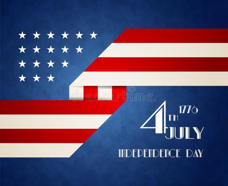 Ilustração americana do Dia da Independência ilustração do vetor