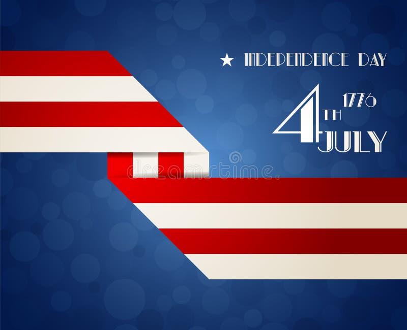 Ilustração americana do Dia da Independência ilustração stock