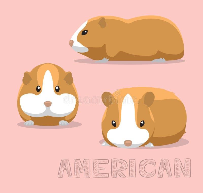 Ilustração americana do vetor dos desenhos animados da cobaia