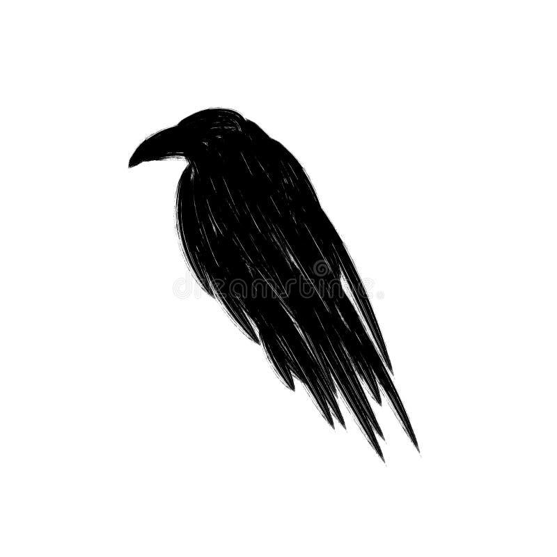 Ilustração angular do corvo ilustração do vetor