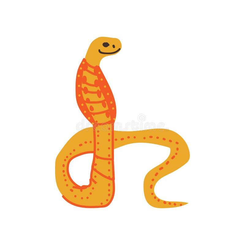 Ilustração animal do vetor do réptil africano exótico selvagem da serpente ilustração do vetor