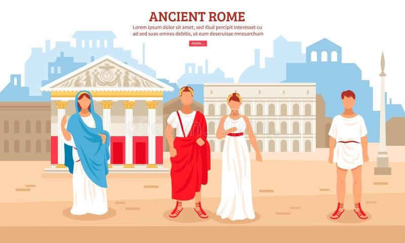 Ilustração antiga de Roma ilustração stock