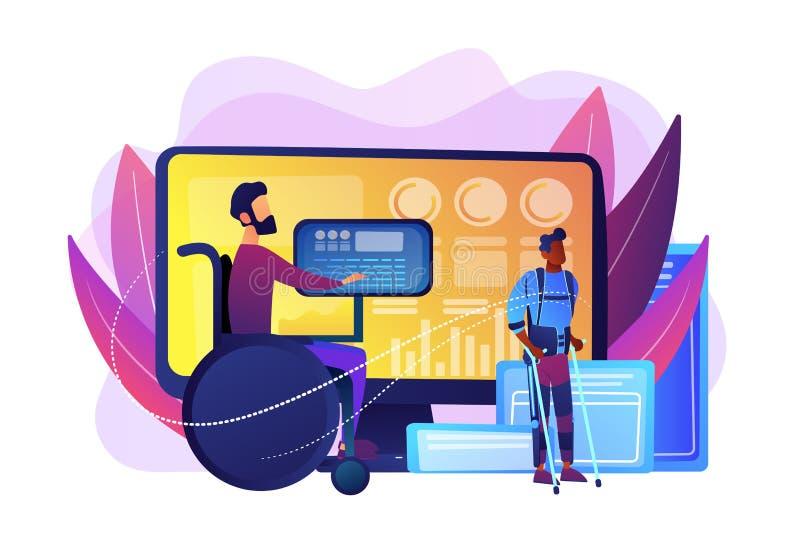 Ilustração assistiva do vetor do conceito da tecnologia ilustração stock
