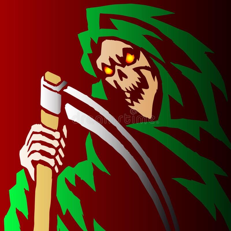 Ilustração assustador do vetor do Ceifador ilustração royalty free