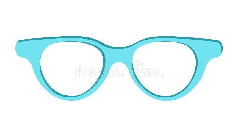 Ilustração azul do vetor do ícone dos óculos de sol isolada ilustração royalty free
