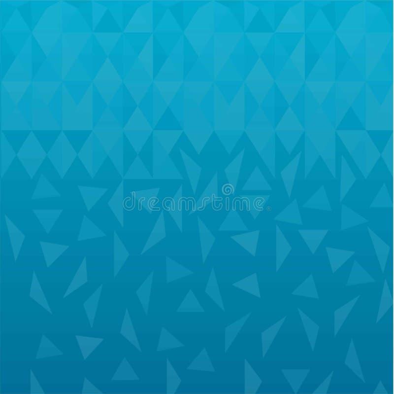 Ilustração azul do vetor do fundo do sumário do triângulo baixo poli ilustração royalty free