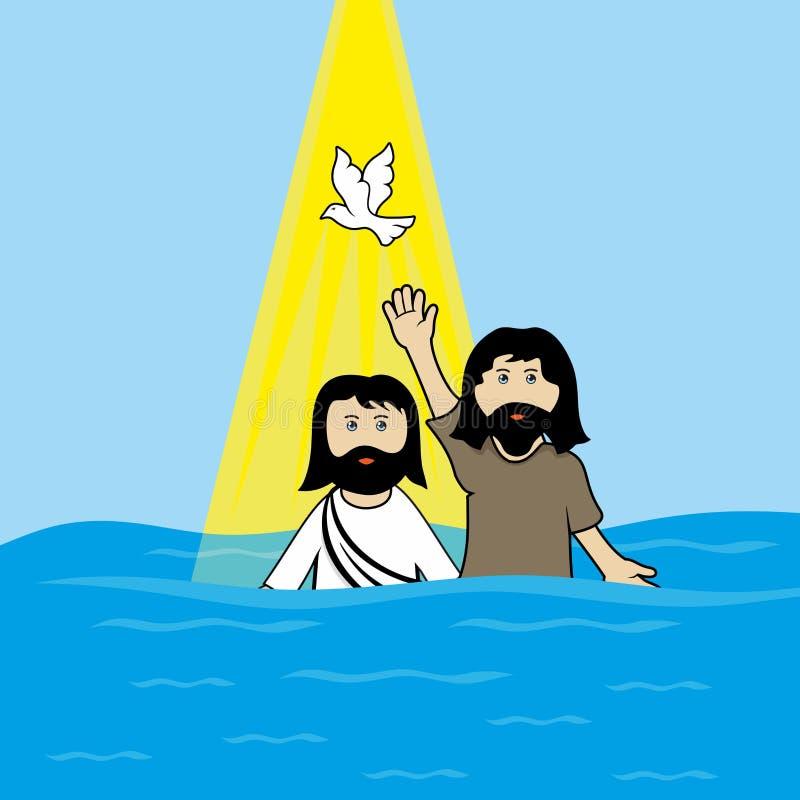Ilustração bíblica Jesus Christ Jesus está na ilustração clothesBiblical diferente Os apóstolos do mal de Jesus ChristBiblical ilustração do vetor