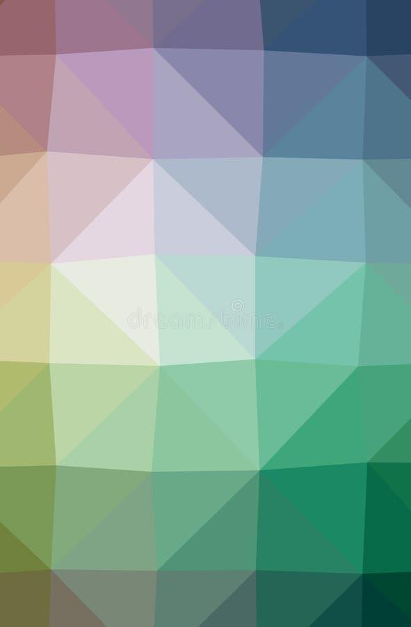 Ilustração baixo do fundo poli vertical azul, verde, roxo abstrato Teste padrão bonito do projeto do polígono ilustração do vetor