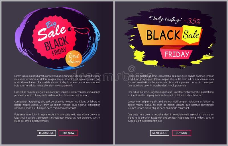 Ilustração bem escolhida do vetor de Black Friday da venda grande ilustração do vetor