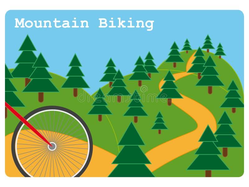 Ilustração biking da montanha ilustração do vetor