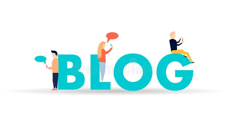 Ilustração Blogging do conceito ilustração do vetor
