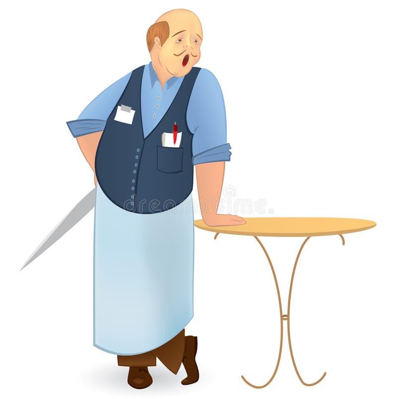 Ilustração bold(realce) do vetor do cozinheiro ilustração royalty free