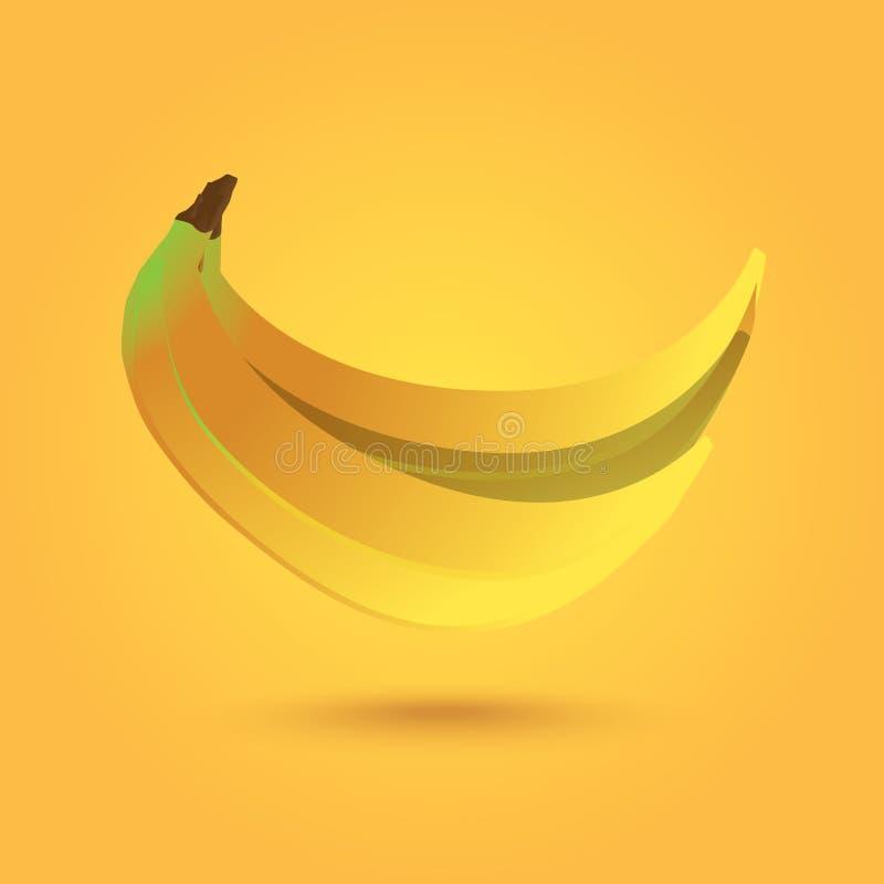 Ilustração bonita do fruto da banana ilustração royalty free