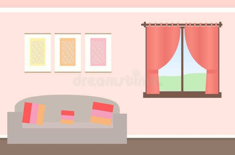 Ilustração bonita simples do fundo da sala ilustração do vetor