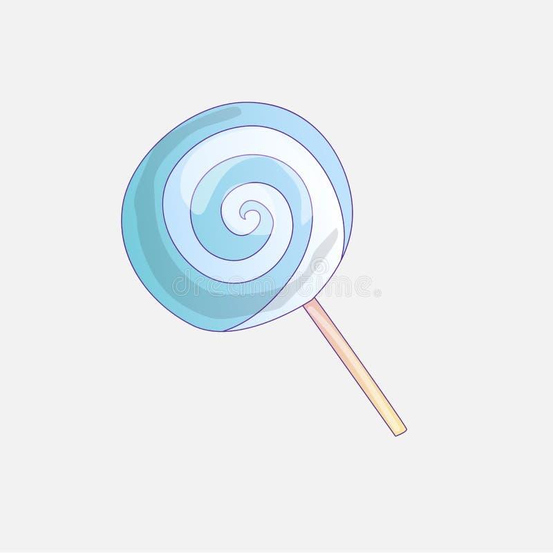 Ilustração bonito do ícone do pirulito do vetor dos desenhos animados Ícone doce dos doces, ilustração dos desenhos animados do l ilustração royalty free