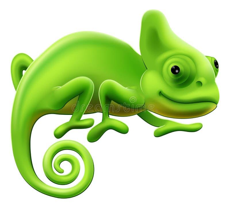 Ilustração bonito do Chameleon ilustração do vetor