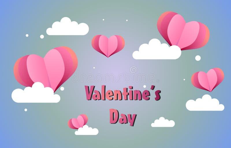 Ilustração bonito do fundo do Valentim ilustração stock