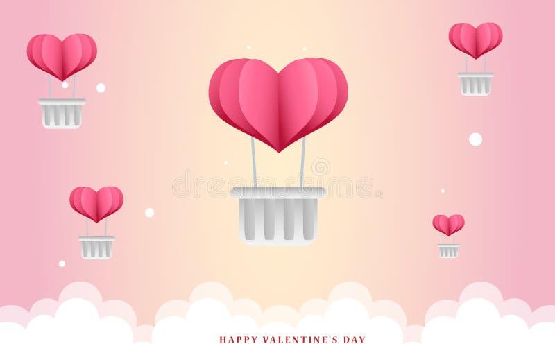 Ilustração bonito do fundo do Valentim Hey! Recorde que você tem que atribuir o freepik para copiar a seguinte relação na Web que imagem de stock