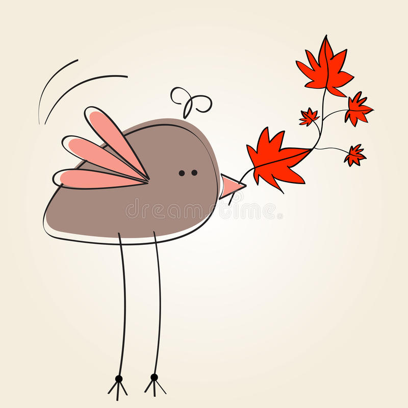 Ilustração bonito do outono ilustração do vetor