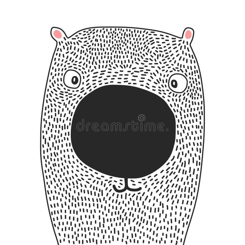 Ilustração bonito do urso ilustração stock