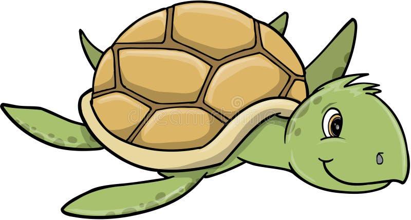 Ilustração bonito do vetor da tartaruga de mar ilustração stock