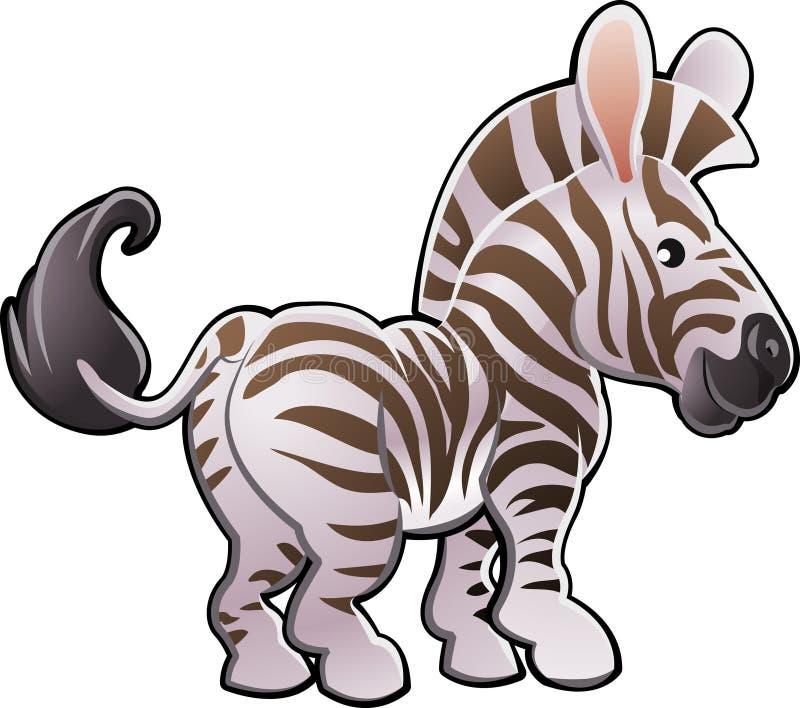 Ilustração bonito do vetor da zebra ilustração do vetor