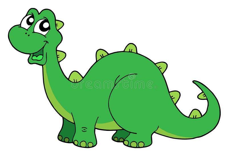 Ilustração bonito do vetor do dinossauro ilustração do vetor