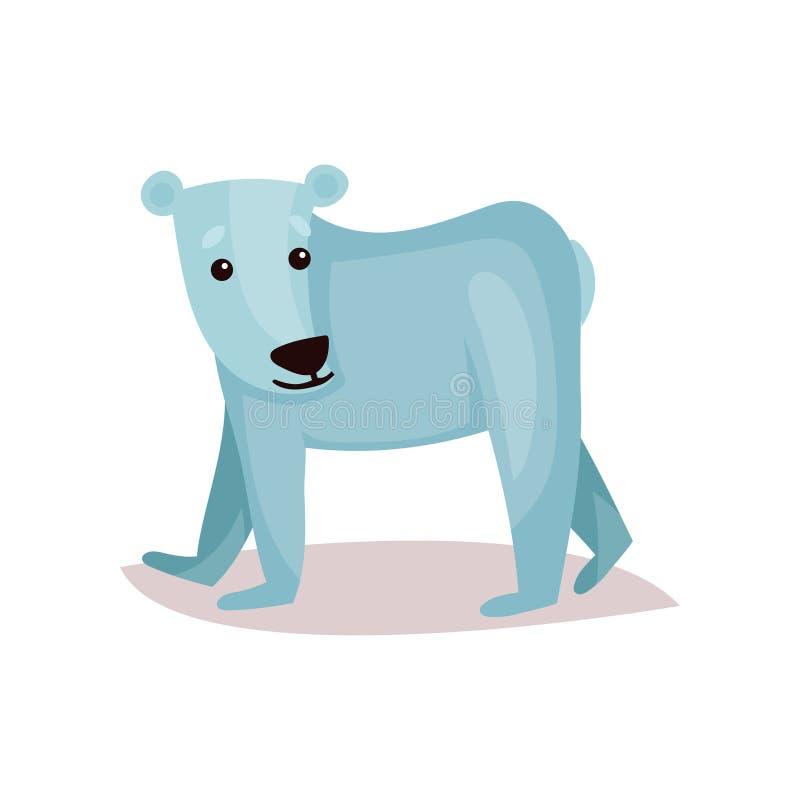 Ilustração bonito do vetor dos desenhos animados do filhote de urso polar ilustração do vetor