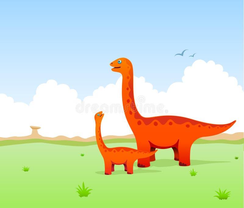 Ilustração bonito dos dinossauros ilustração do vetor