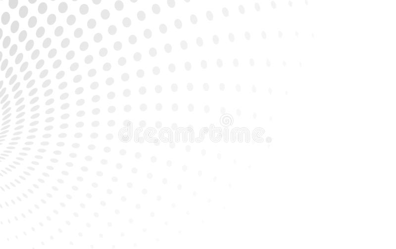 A ilustração branca clara de intervalo mínimo do vetor de consiste círculos ponto ilustração stock
