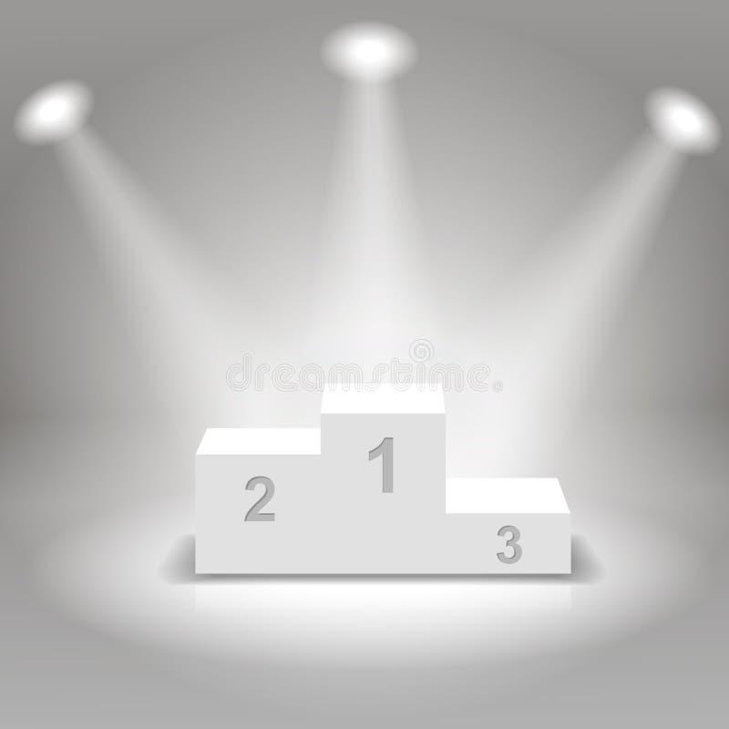 Ilustração branca do pódio dos vencedores do negócio ilustração stock