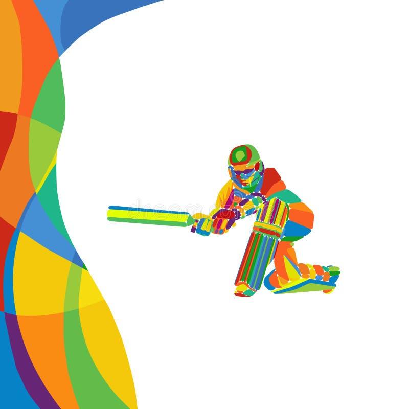 Ilustração brilhante cor abstrata do vetor do jogador do grilo da multi foto de stock