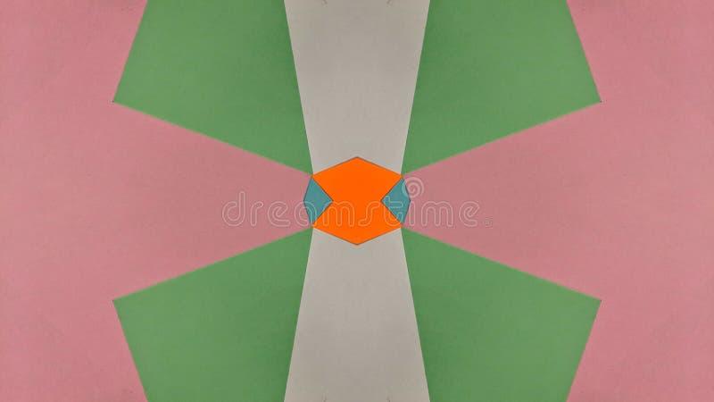 Ilustração calidoscópico de papéis coloridos ilustração do vetor