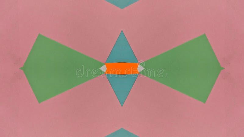 Ilustração calidoscópico de papéis coloridos ilustração stock