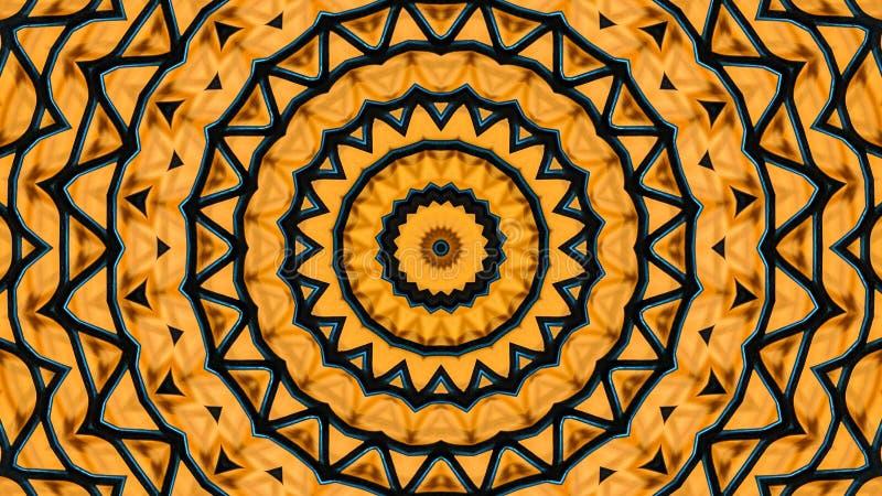 Ilustração calidoscópico de uma grade do metal ilustração royalty free