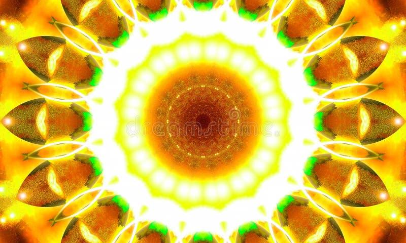 Ilustração calidoscópico - mandala brilhante ilustração do vetor