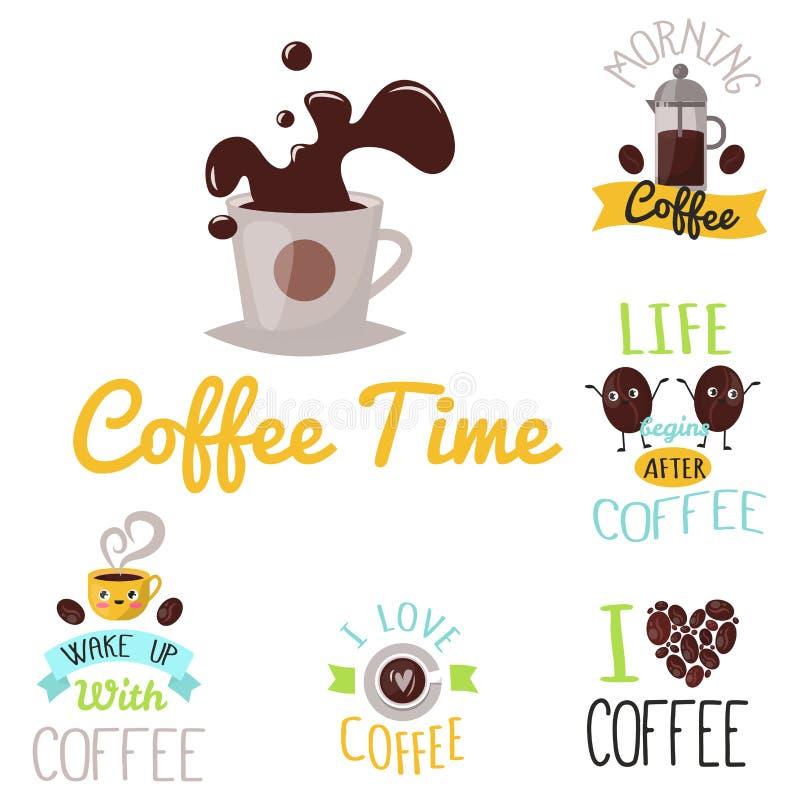 Ilustração caligráfica tirada mão do vetor da etiqueta do restaurante da rotulação do projeto do alimento do crachá do café ilustração do vetor