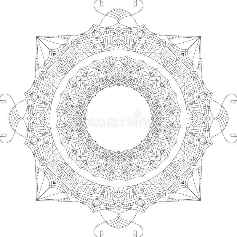 Ilustração calma bonita do vetor da mandala fotografia de stock