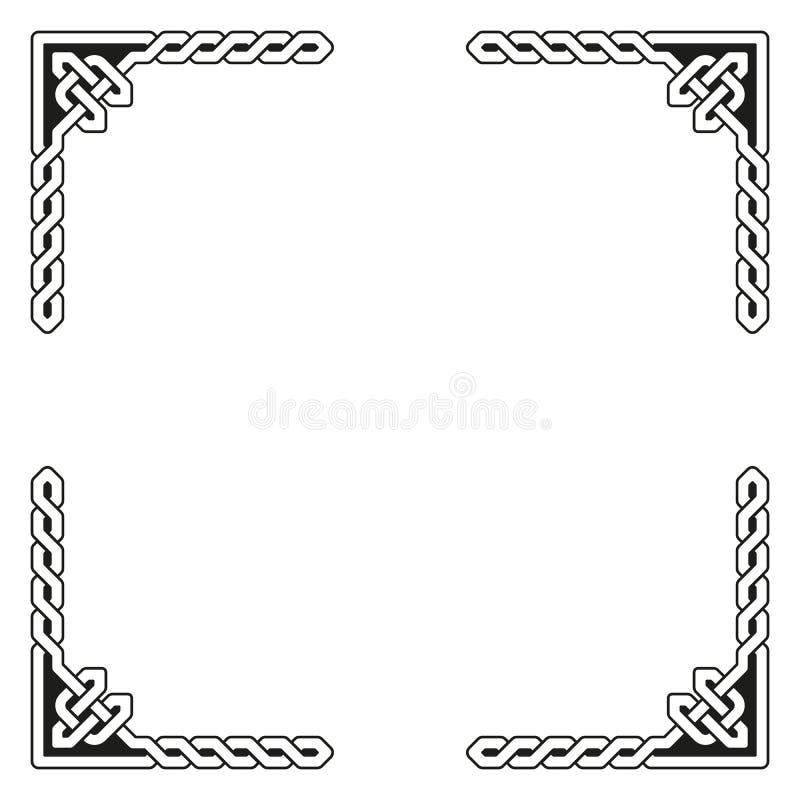 Ilustração celta decorativa do vetor do quadro ilustração royalty free