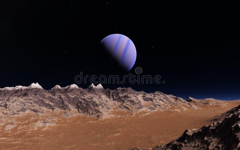 Ilustração científica de Marte ilustração stock