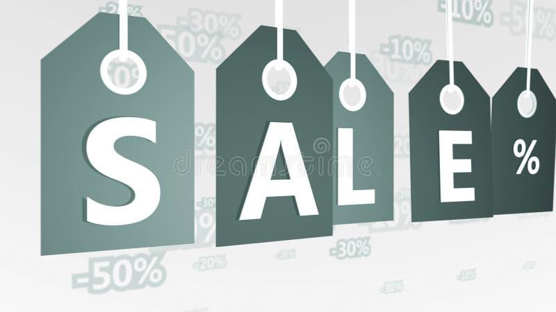 Ilustração cinzenta abstrata das etiquetas das vendas ilustração do vetor