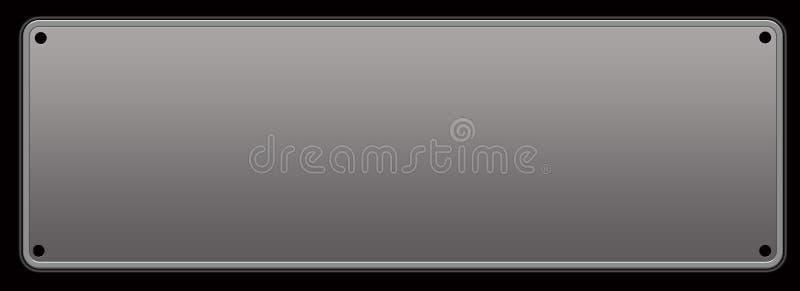 Ilustração cinzenta da placa de metal ilustração do vetor