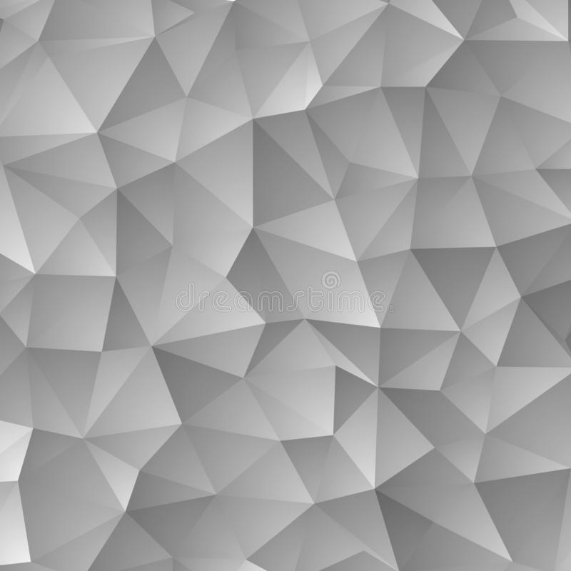 Ilustração cinzenta do sumário do vetor, fundo dos triângulos Eps 10 ilustração do vetor