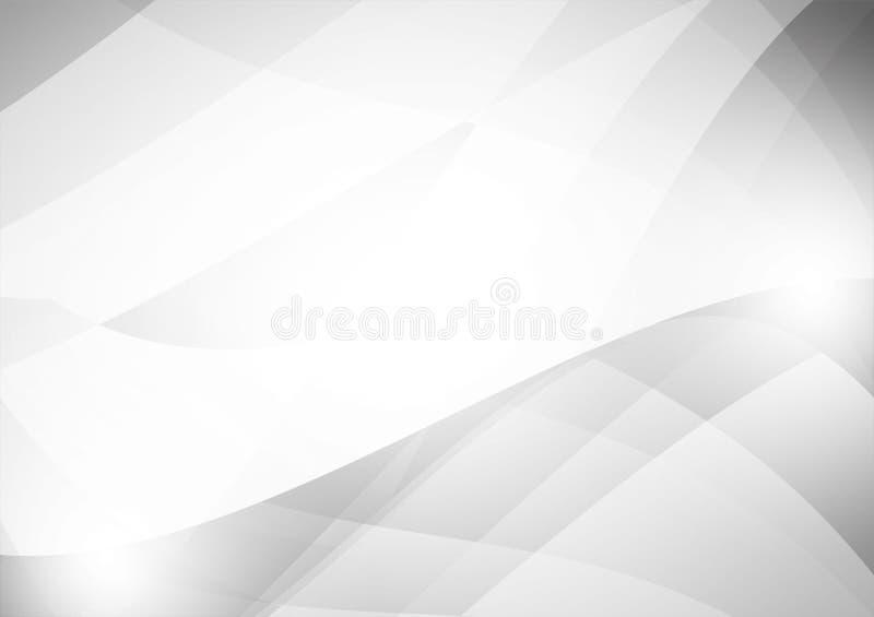 Ilustração cinzenta e branca geométrica do vetor do projeto moderno do fundo do sumário da cor ilustração do vetor