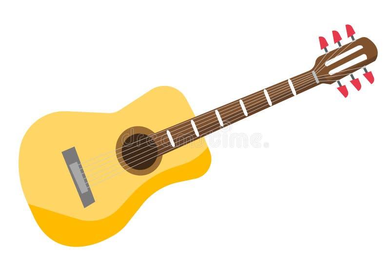 Ilustração clássica do vetor da guitarra acústica ilustração stock