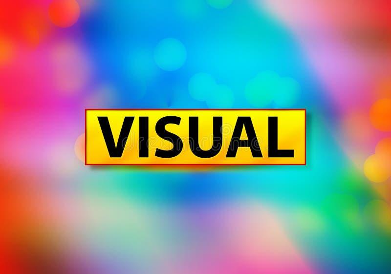 Ilustração colorida abstrata visual do projeto de Bokeh do fundo ilustração do vetor