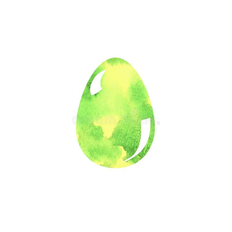 Ilustração colorida da escova do desenho da mão do ovo da páscoa com aquarelas Projeto gráfico com fundo branco Feriado de Easter ilustração royalty free